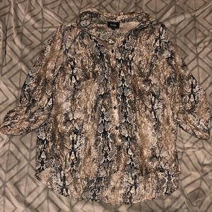 Women's Snake Skin By and By Blouse